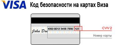 код безопасности visa